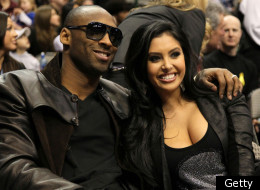 DALLAS - FEBRUARY 13: Kobe Bryant #24 of the Los Angeles Lakers smiles with his wife Vanessa Lynne during the Taco Bell Skills Challenge on All-Star Saturday Night, part of 2010 NBA All-Star Weekend at American Airlines Center on February 13, 2010 in Dallas, Texas.