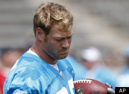 Carolina Panthers' Jeremy Shockey runs after a catch at the NFL football team's training camp in Spartanburg, S.C., Sunday, July 31, 2011. (AP Photo/Chuck Burton)