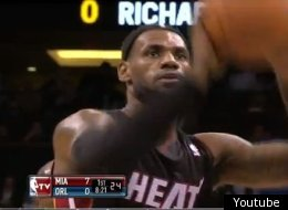LeBron James got some grief for this attempt.