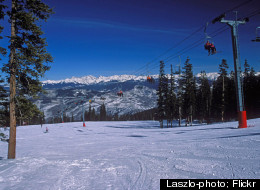 Skiers can bask in the beautiful mountain view as they head down the slopes at Beaver Creek Resort.