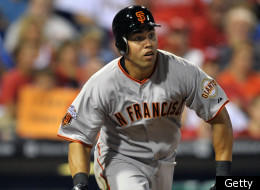 PHILADELPHIA, PA - JULY 28: Carlos Beltran #15 of the San Francisco Giants runs towards first base on a foul ball during the game against the Philadelphia Phillies at Citizens Bank Park on July 28, 2011 in Philadelphia, Pennsylvania. (Photo by Drew Hallowell/Getty Images)