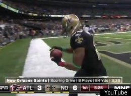 Pierre Thomas had a nice holiday-themed touchdown celebration prepared.