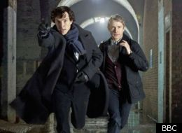 Benedict Cumberbatch and Martin Freeman will co-star in 'Sherlock' on TV and 'The Hobbit' on the big screen