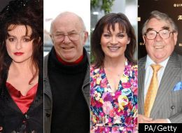 Helena Bonham Carter, Ronnie Corbett, Clive James and Lorraine Kelly are among those honoured in the New Year's Honours list