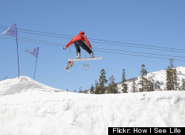 Catch some major air at Sierra-At-Tahoe Resort.