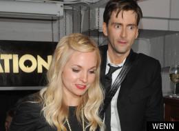 David Tennant and his fiancée Georgia Moffett