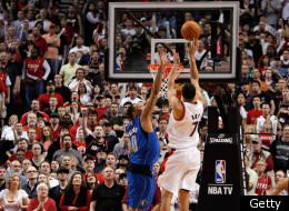 PORTLAND, OR - APRIL 23: Brandon Roy #7 of the Portland Trail Blazers shoots Shawn Marion #0 of the Dallas Mavericks in Game Four of the Western Conference Quarterfinals in the 2011 NBA Playoffs on April 23, 2011 at the Rose Garden in Portland, Oregon. NOTE TO USER: User expressly acknowledges and agrees that, by downloading and or using this photograph, User is consenting to the terms and conditions of the Getty Images License Agreement. (Photo by Jonathan Ferrey/Getty Images)