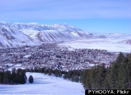 This trail at Snow King Resort overlooks the town of Jackson in Wyoming.