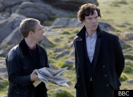 Martin Freeman and Benedict Cumberbatch star in 'Sherlock: The Hounds of Baskerville'