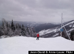 Stoneham Mountain Resort is home to the largest network of lighted trails in Canada.