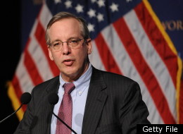 William Dudley, president and CEO of the Federal Reserve Bank of New York, speaks on December 7, 2009 during the World Leaders Forum at Columbia University in New York. (Getty)