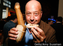 Host of 'Bizarre Foods' Andrew Zimmern attends the Discovery Upfront event at Jazz at Lincoln Center in 2008.