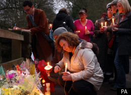 Friends and former pupils at Betty Yates's candlelit vigil