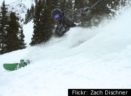 Advanced skiers hit the crowd-free slopes at Silverton Mountain.