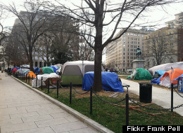 The Occupy DC camp in McPherson Square