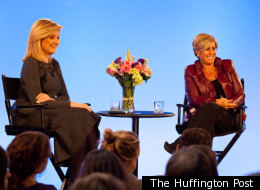 Suze Orman takes questions from the audience at AOL Studios in New York on January 9.