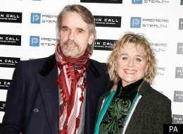 Jeremy Irons with his wife Sinead Cusack at the premiere of 'Margin Call' in London