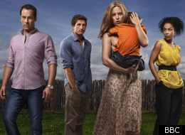 Jonathan LaPaglia (2nd left) is one of the flawed protagonists of 'The Slap'