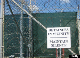 Photo reviewed by US military officials shows a silence sign inside Camp VI in Guantanamo. (Virginie Montet/AFP/Getty Images)