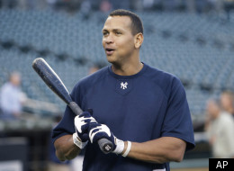 New York Yankees' Alex Rodriguez chats during batting practice before Game 4 of baseball's American League division series between the Yankees and the Detroit Tigers on Tuesday, Oct. 4, 2011, in Detroit. (AP Photo/Paul Sancya)