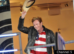 Michael Madsen and Gareth Thomas have a snore-off in the Celebrity Big Brother house