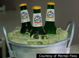 This is not a bucket of beer. It's a cake designed to look like a bucket of beer.