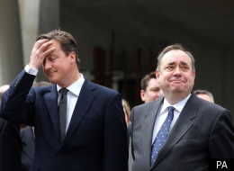 David Cameron and Alex Salmond.