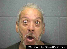 Andrei Bibbs, 54, of Blue Island, gives quite the face in this mugshot.