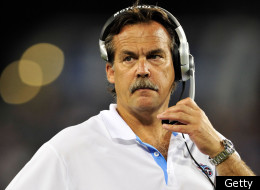 NASHVILLE, TN - SEPTEMBER 02: Coach Jeff Fisher of the Tennessee Titans watches during an exhibition game against the New Orleans Saints at LP Field on September 2, 2010 in Nashville, Tennessee. Tennessee won 27-24. (Photo by Grant Halverson/Getty Images)