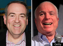 Former Arkansas Governor Mike Huckabee hit back at Sen. John McCain (R) on Friday for his denial that he asked Fred Thompson to stay in the 2008 Republican presidential primary in order to take votes away from Huckabee.
