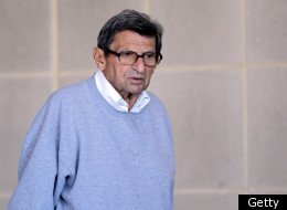 UNIVERSITY PARK, PA - NOVEMBER 08: Penn State University head football coach Joe Paterno leaves the team's football building on November 8, 2011 in University Park, Pennsylvania. Amid allegations that former assistant Jerry Sandusky was involved with child sex abuse, Paterno's weekly news conference was canceled about an hour before it was scheduled to occur. (Photo by Rob Carr/Getty Images)