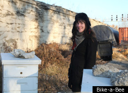 Jana Kinsman created Bike-a-Bee with the goal of expanding urban agriculture in Chicago into a new area: beekeeping.