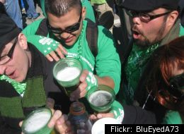Revelers at a previous South Side Irish Parade, before the tradition was shut down in 2009.