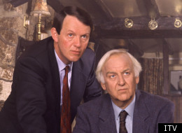 Kevin Whately and John Thaw as Lewis and Morse respectively