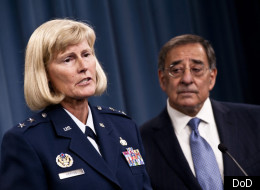 Maj. Gen. Mary Kay Hertog, of the Air Force, and Secretary of Defense Leon Panetta addressed the problem of sexual assaults in the military at a Pentagon press briefing this week.