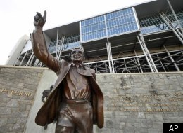 The family of ex-Penn State football coach, honored with a statue near Beaver Stadium, issued a statement on his death.