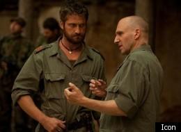 Ralph Fiennes directing Gerard Butler in 'Coriolanus'