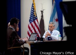 Mayor Emanuel participates in his first Facebook Town Hall in June.