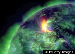 A grade three solar flare captured by the Solar Dynamics Observatory