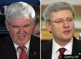 Newt Gingrich called Stephen Harper a