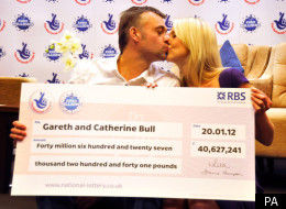 Gareth and Catherine Bull have won nearly £41m from last week's EuroMillions draw