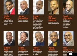 Five of Detroit's 10 Black Male Engagement Leadership Award winners.