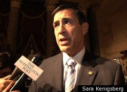 Rep. Darrell Issa (R-Calif.) talks to HuffPost after the State of the Union address.