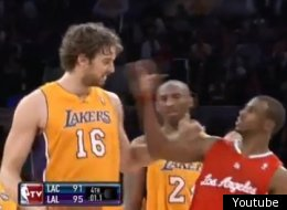 Chris Paul and Pau Gasol had a disagreement during the Lakers/Clippers game.