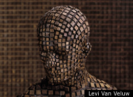 Levi Van Veluw's self-portraits: one good way to hide out in the woods...