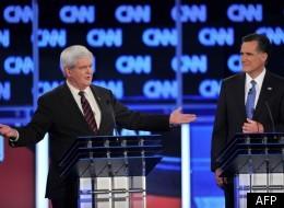 Newt Gingrich et Mitt Romney lors du débat du jeudi 26 janvier.