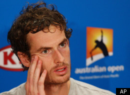Britain's Andy Murray answers questions at a press conference following his loss to Serbia's Novak Djokovic in their semifinal at the Australian Open tennis championship, in Melbourne, Australia, Saturday, Jan. 28, 2012. (AP Photo/Rick Rycroft)
