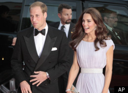 Prince William and Kate, the Duke and Duchess of Cambridge, arrive for the BAFTA Brits to Watch dinner Saturday, July 9, 2011, at the Belasco Theatre in Los Angeles. (AP Photo/Bret Hartman)