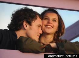 Felicity Jones and Anton Yelchin are caught up in their own world in 'Like Crazy'