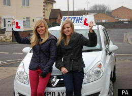 Double celebration: Twins Rosie and Lucy Carleton both passed their driving tests on the same day